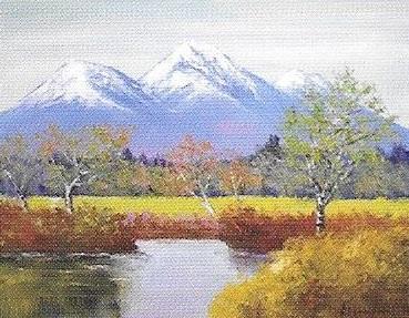 肉筆油絵 日本の風景